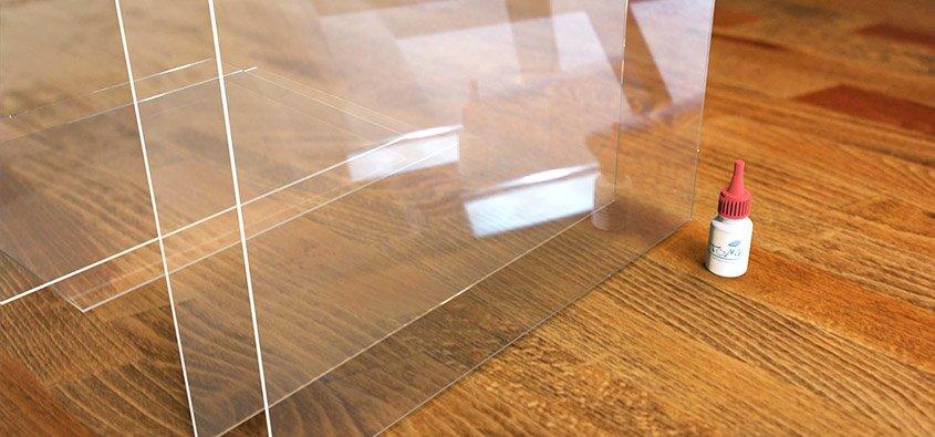 Incollaggio plexiglass lavorazioni for Lastre vetro sintetico